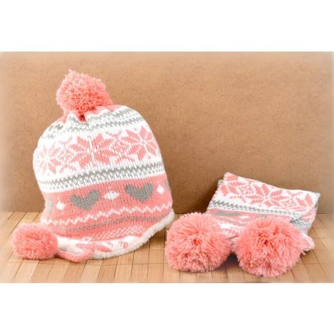 54d3aec9696 Начало · Шапки и ръкавици; Детски комплект шапка и шал. Тъмносин