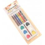 Комплект - водни бои и пастели