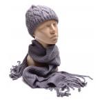Комплект, дамски шал и шапка