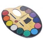 Палитра с водни бои - 12 цвята
