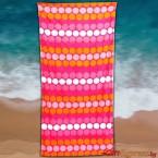 Плажна хавлия с кръгчета - розова