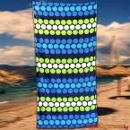 Плажна хавлия с кръгчета - синя