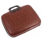 Чанта за лаптоп - кафяв леопардов десен