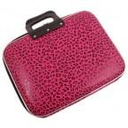 Чанта за лаптоп - цикламен леопардов десен