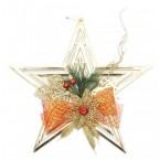 Коледна звезда с панделка