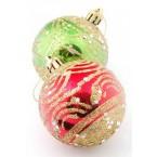 Коледни топки декорирани с брокат