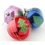 Релефни коледни топки декорирани с елха