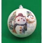 Коледни топки със снежни човечета