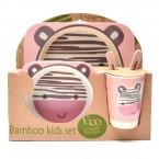Детски комплект за хранене от бамбук