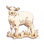 Дървени фигурки - агне, 50бр