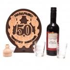 Бъклица с вино - 50г. Честит Юбилей!