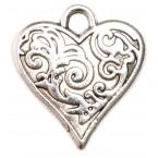 Сърце с орнаменти - пакет 50 броя