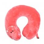 Възглавница за път - розов хипопотам