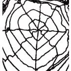 Черна паяжина - 260см