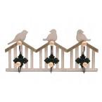 Дървена закачалка - птички