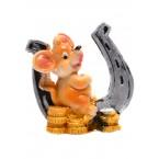 Фигура - плъх с подкова и монети