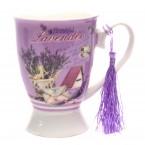 Керамична чаша - лавандула