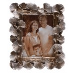 Рамка за снимка - сребристи листенца