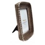 Рамка за снимка, полирезин - плетена