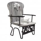 Дървен свещник - стол