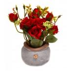 Изкуствени рози в саксия