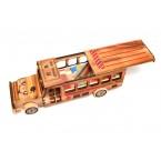 Дървен автобус с комплект за смятане