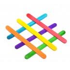 Дървени плоски пръчки 50 бр