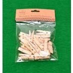 Дървени щипки - 20 броя