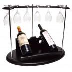 Луксозна поставка за вино с чаши