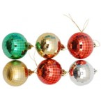 Разноцветни коледни топки с релеф