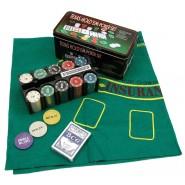 Комплект за покер 200 чипа