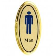 Метална табела с мъж