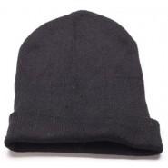 Черна мъжка зимна шапка.
