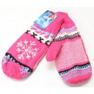 Розови женски зимни ръкавици с един пръст.