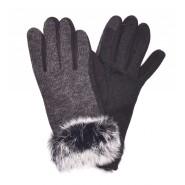 Дамски ръкавици с пух