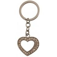 Ключодържател сърце с камъчета