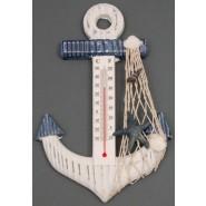 Дървен термометър с морски мотиви
