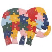 Дървен пъзел - слон