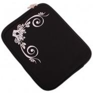 Калъф за таблет - черен с бели орнаменти