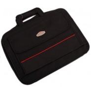 Чанта за лаптоп - черна с червена лента