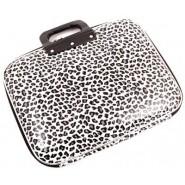 Чанта за лаптоп - бял леопардов десен