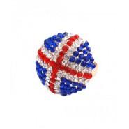 Пръстен топче с цветни камъчета