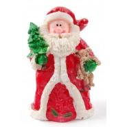 Фигурка на Дядо Коледа, държащ елхичка и мече.