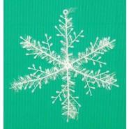 Бяла коледна снежинка за украса.