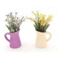 Комплект декоративни цветя в саксия