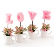 Комплект декоративни цветя