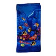 Плажна хавлия с рибки