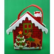 Коледна торбичка - къщичка