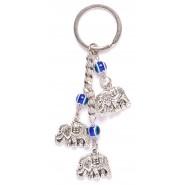 Ключодържател с фигурки - три слончета и сини очи