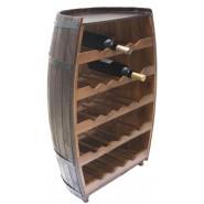 Дървена поставка за вино